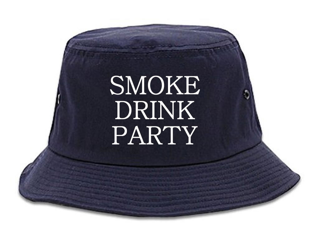 Very Nice Smoke Drink Party Black Bucket Hat Navy Blue