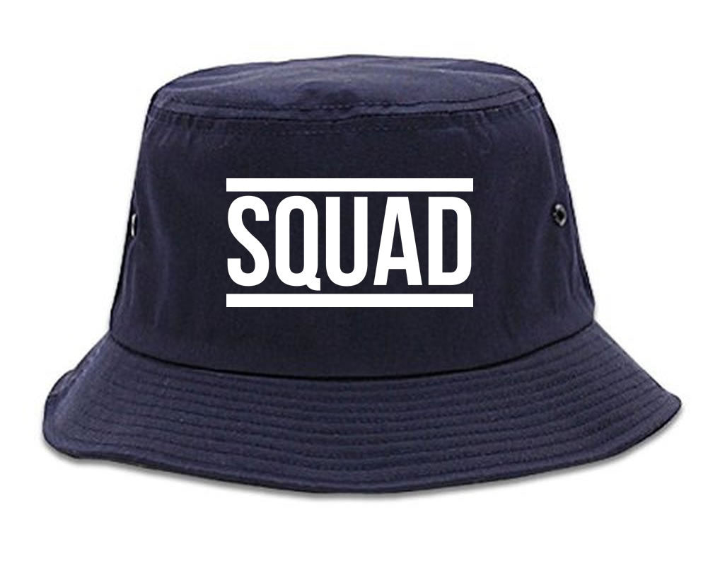 Very Nice Squad Crew Blogger Black Bucket Hat Navy Blue