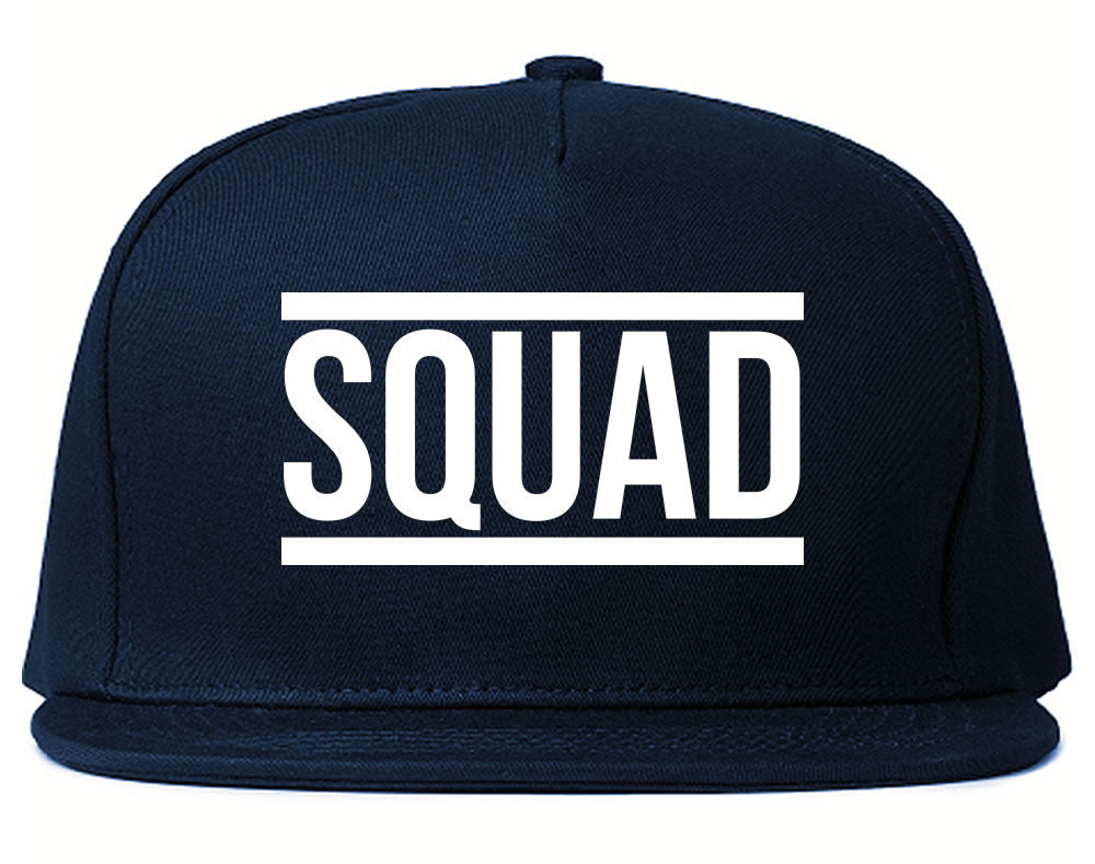 Very Nice Squad Crew Blogger Black Snapback Hat Navy Blue