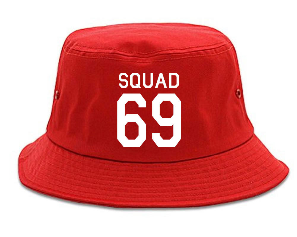 Very Nice Squad 69 Team Jersey Bucket Hat Red