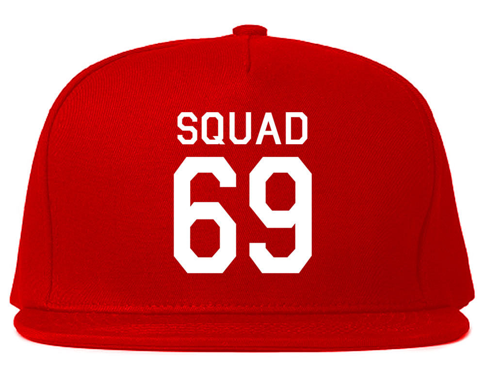 Very Nice Squad 69 Team Jersey Snapback Hat Red