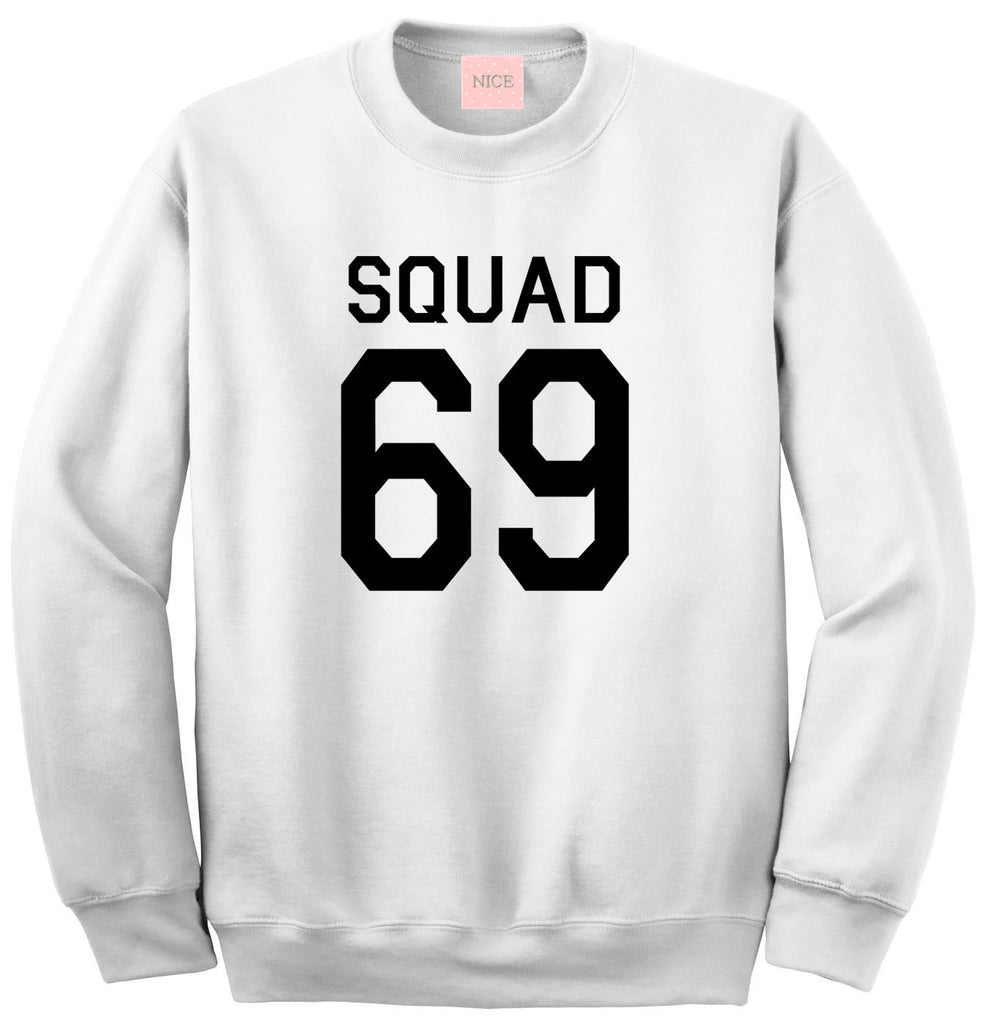 Very Nice Squad Team Boyfriend Crew Sweatshirt White