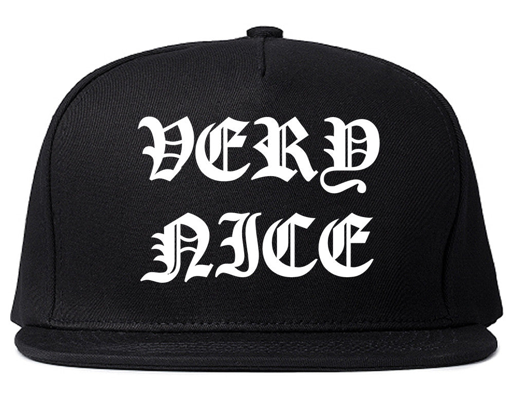 Very Nice Old English Snapback Hat by Very Nice Clothing