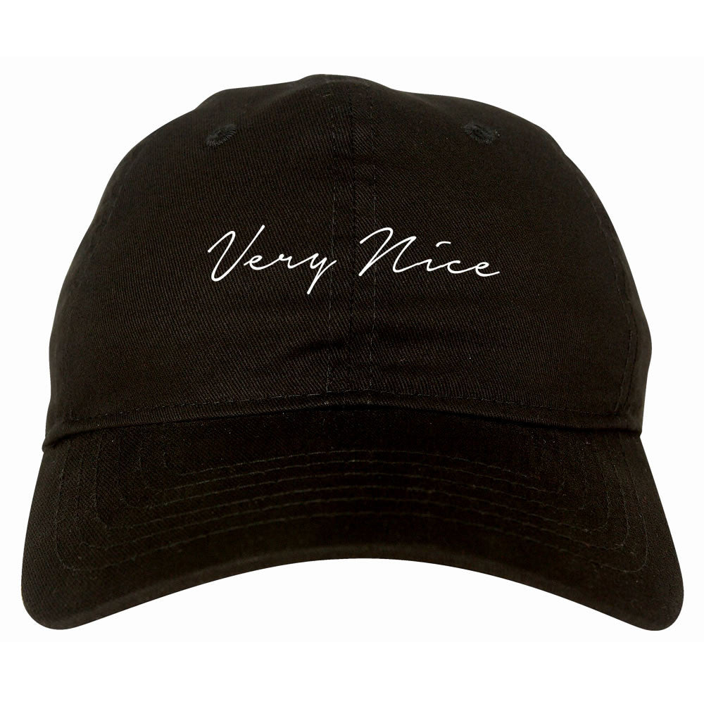Very Nice Script Dad Hat by Very Nice Clothing