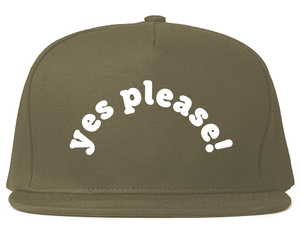 Very Nice Yes Please Girls Black Snapback Hat