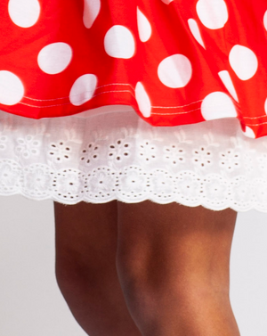 Iconic polka dot twirl dress