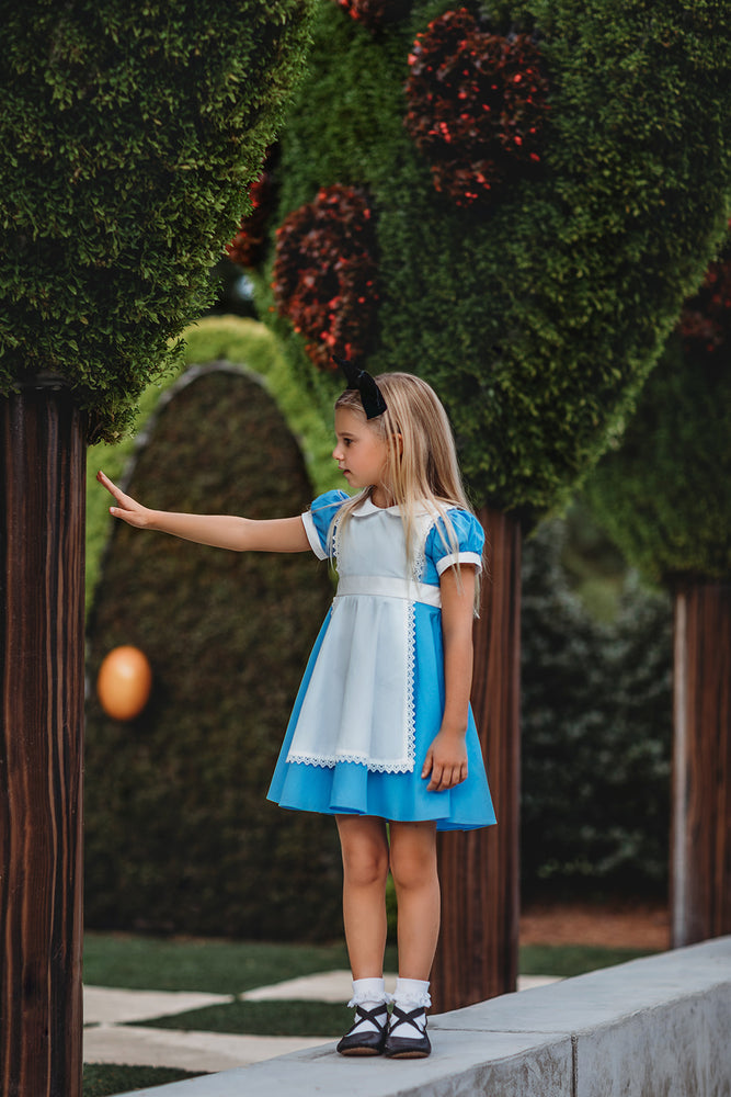 Alice Tea Dress with Pinafore