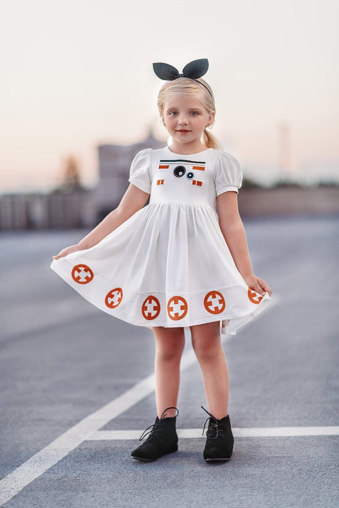 Galactic Robot Twirl Dress