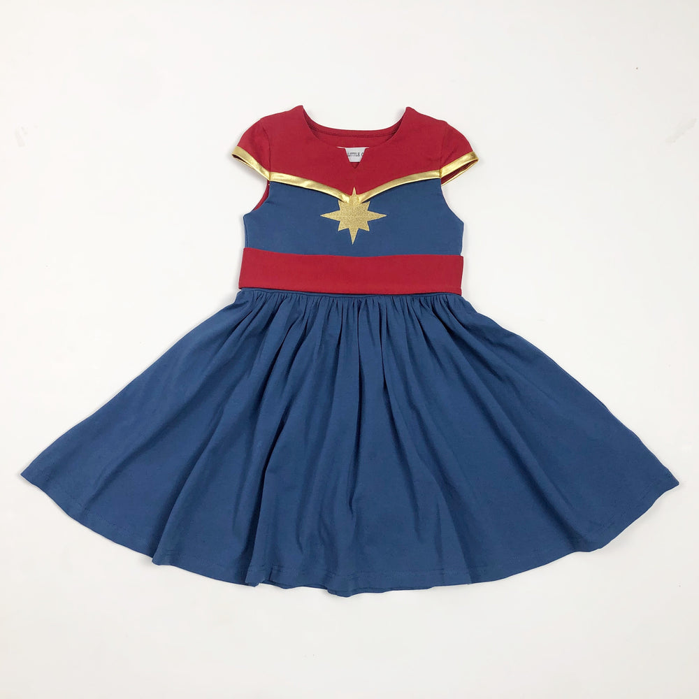 Super hero Captain twirl dress