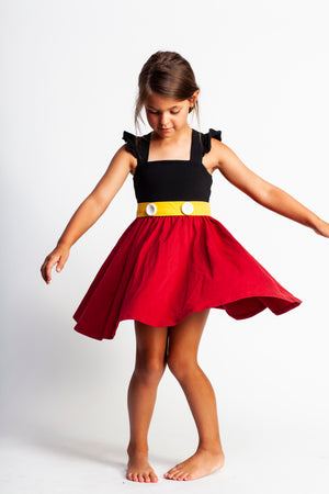 Mickey Inspired Twirl Dress