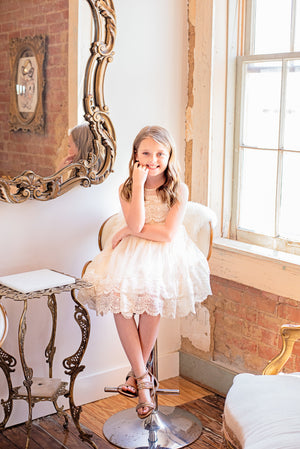 Riley tulle gown in Ivory