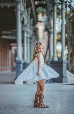Ice Queen Twirl Gown with Cape