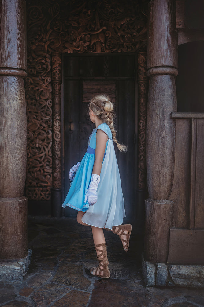 Ice Queen Dress and Cape Set
