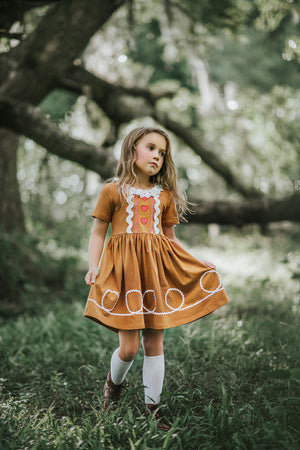 Gingerbread Girl Twirl Dress