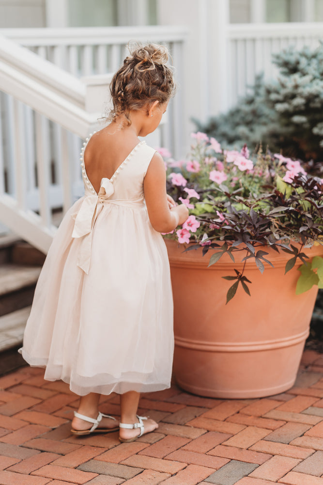 Pearl Accent gown in Antique Ivory