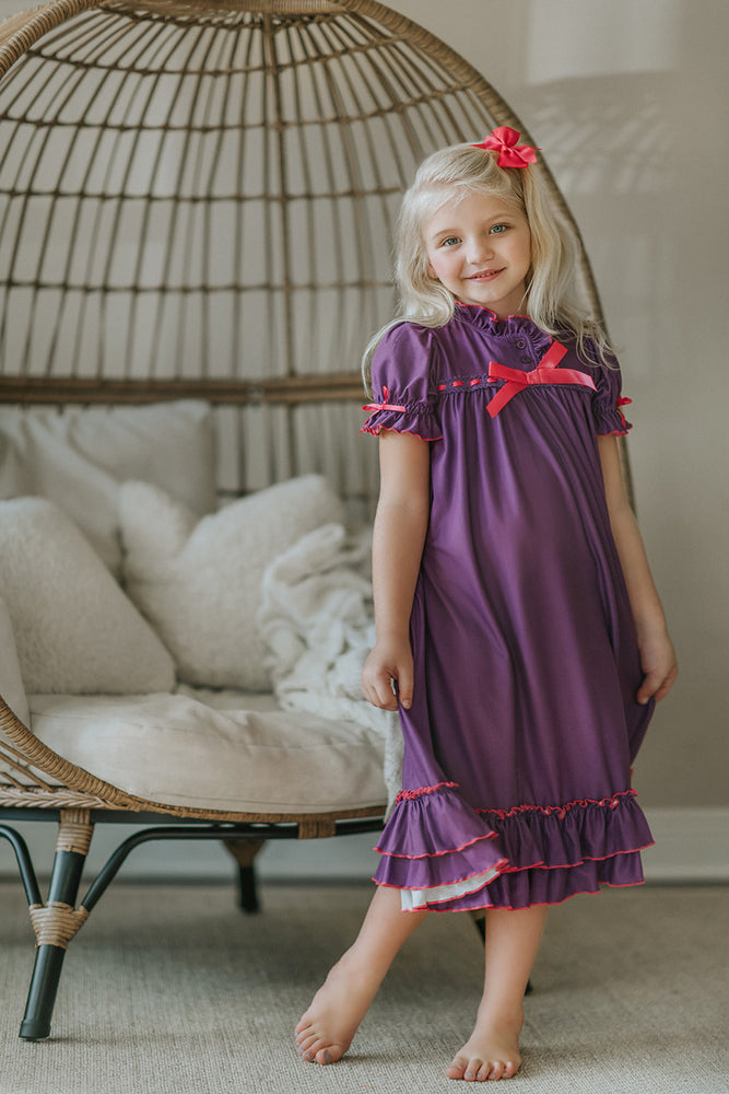 **ANNIVERSARY** Our Clara gown in Purple with Pink
