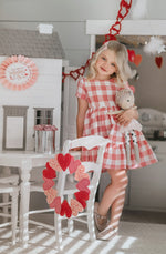 Pink Gingham Twirl Dress