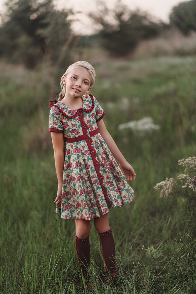 NQP Penny Dress with Antique Floral Print