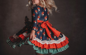 Winterberry Holiday dress in Navy