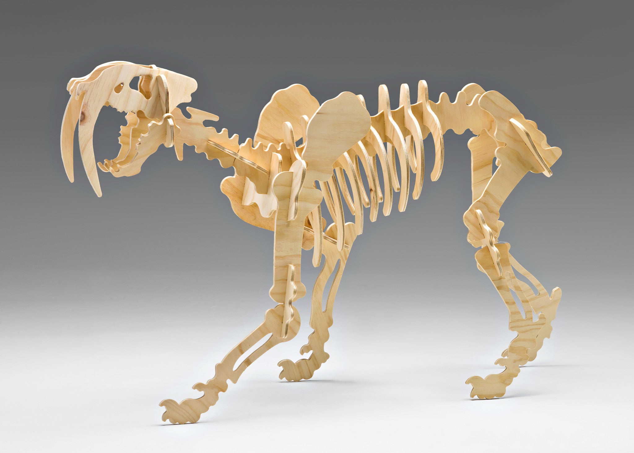 Saber Tooth Tiger 3D Wooden Puzzle