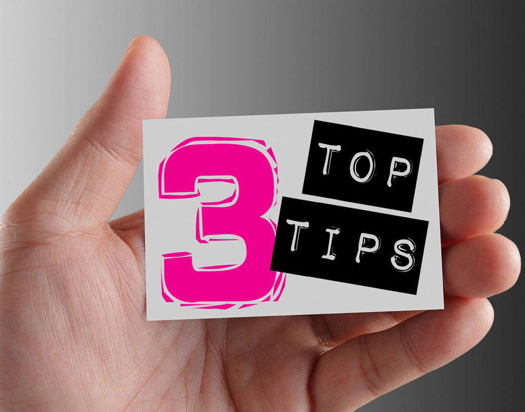 Top 3 tips for a great business card.