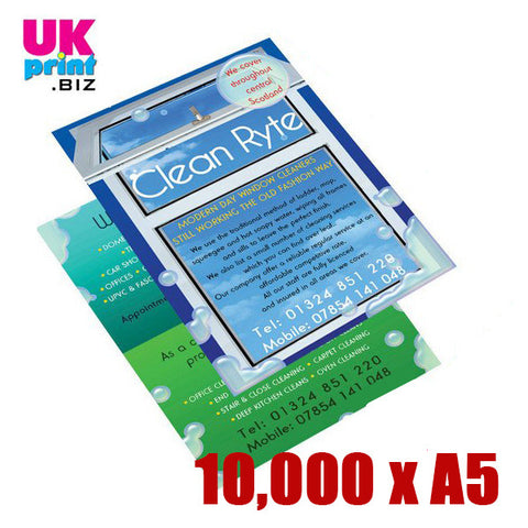10,000 A5 Single/Double Sided Flyers