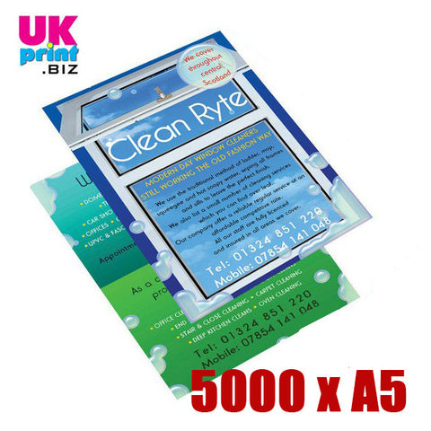 5000 A5 Single/Double Sided Flyers