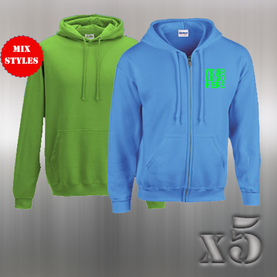 5 Hoodie/Zipper offer