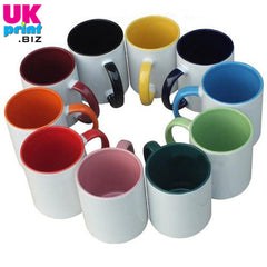 Personalised mugs with coloured insides
