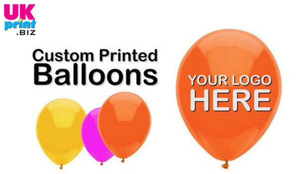 "Printed Balloons 10""(single sided) with sticks and pump"