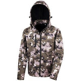 Result Core - Camo TX performance hooded softshell jacket