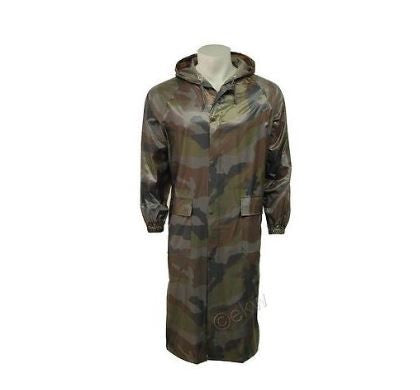 ADULTS LONG CAMOUFLAGE WATERPROOF CAGOULE
