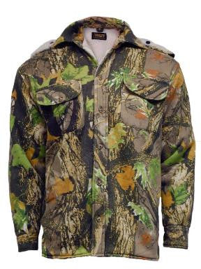 STORMKLOTH CAMOUFLAGE SHERPA FUR LINED HOODED SHIRT