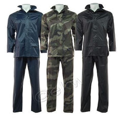 WATERPROOF RAIN SUIT HOODED JACKET & TROUSERS
