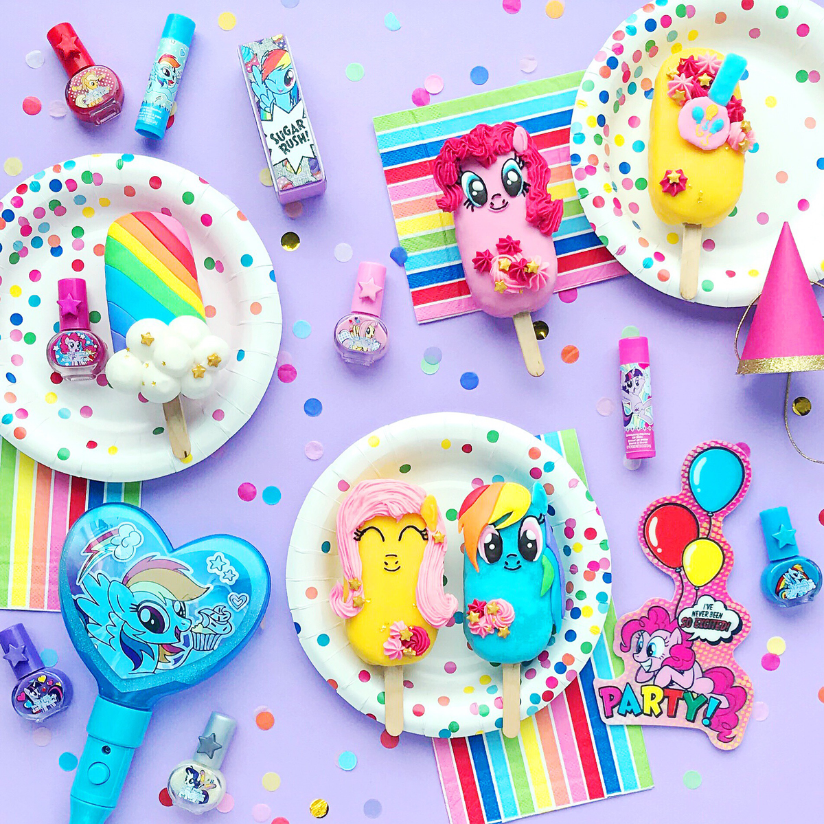 Diy My Little Pony Confetti Cake Popsicles Townleygirl
