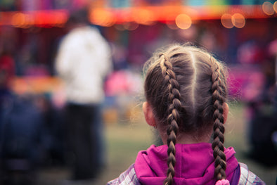 Hair Braids Little Girl