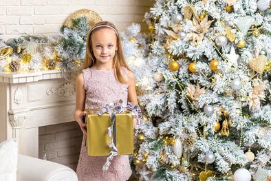 Gold Christmas Gift Little Girl