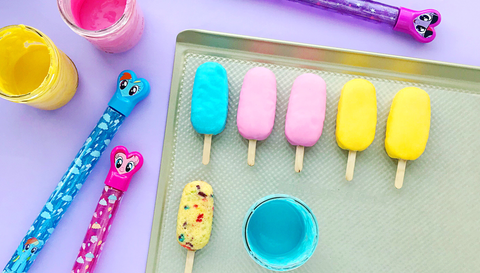 my little pony cake popsicles