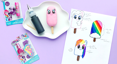 my little pony confetti cake popsicles