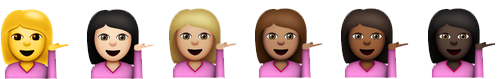 Shrugging lady emoji
