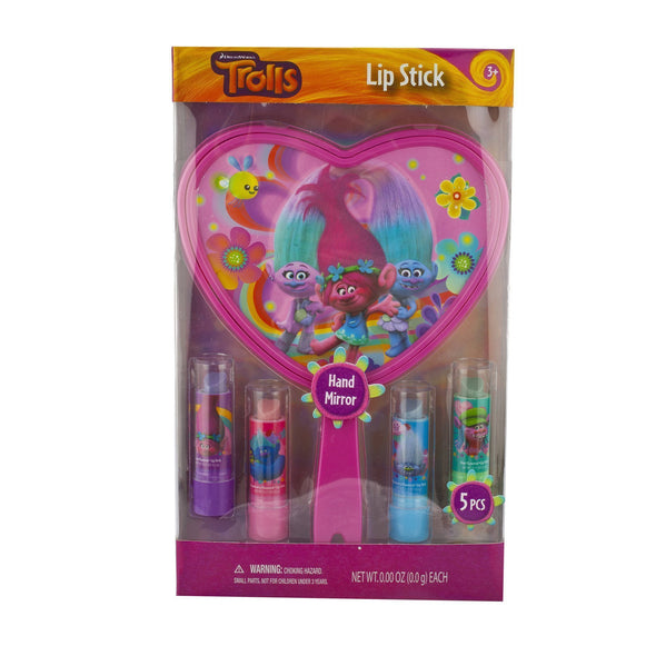 Trolls 4 Pack Lip Stick with Mirror - Townleygirl