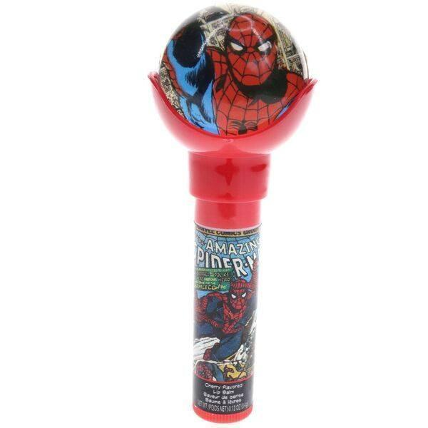 Spider Man Lip Balm with Bouncy Ball