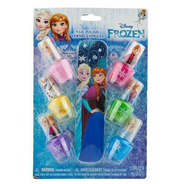 Frozen 6 Pack Nail Polish With File - Townleygirl