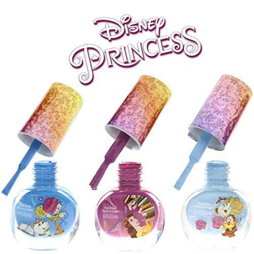 Townley Girl Disney Princess Super Sparkly Peel-Off Nail Polish Deluxe Set for Girls, 18 Colors