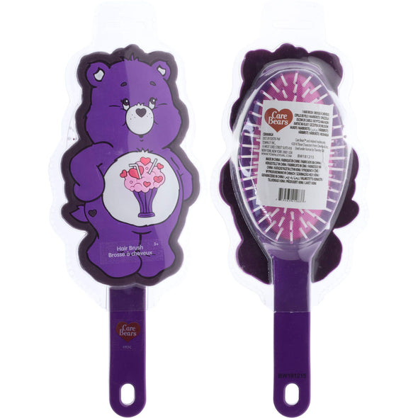 Townley Girl Care Bear Share Molded Detangling Hair Brush for All Hair Types for Girls, Ages 3+