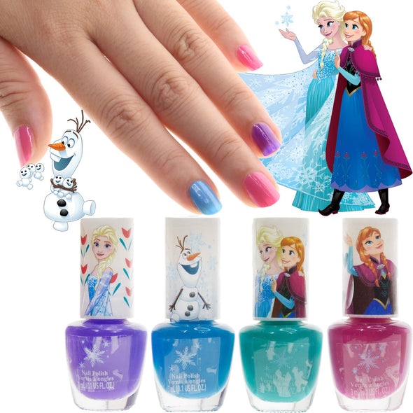 Disney Frozen 8 Piece Nail Polish, Kids Washable, Kid Friendly