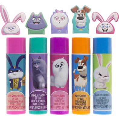 The Secret Life of Pets 2 Lip Balm Set with Finger Puppets
