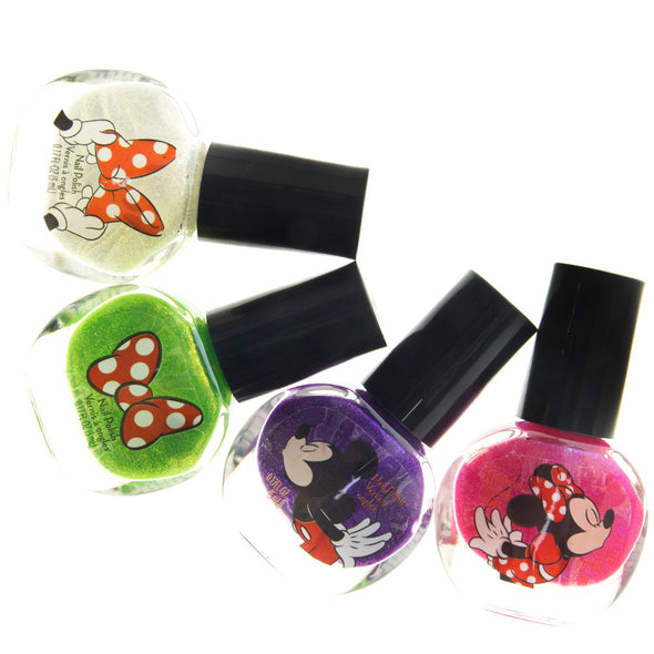 TownleyGirl Disney Minnie Mouse Nail Polish, Lip Balm, Lip Gloss & Hair Accessories (Minnie Mouse 18 Pack Nail Polish Set)