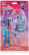TownleyGirl Vampirina Super Sparkly Lip Gloss Set for Girls, with 4 Fruity Flavors and Decorative Coffin Case