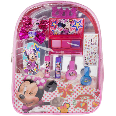 Disney MB0770SA Townley Girl Minnie Mouse Backpack Cosmetic Set, Pink